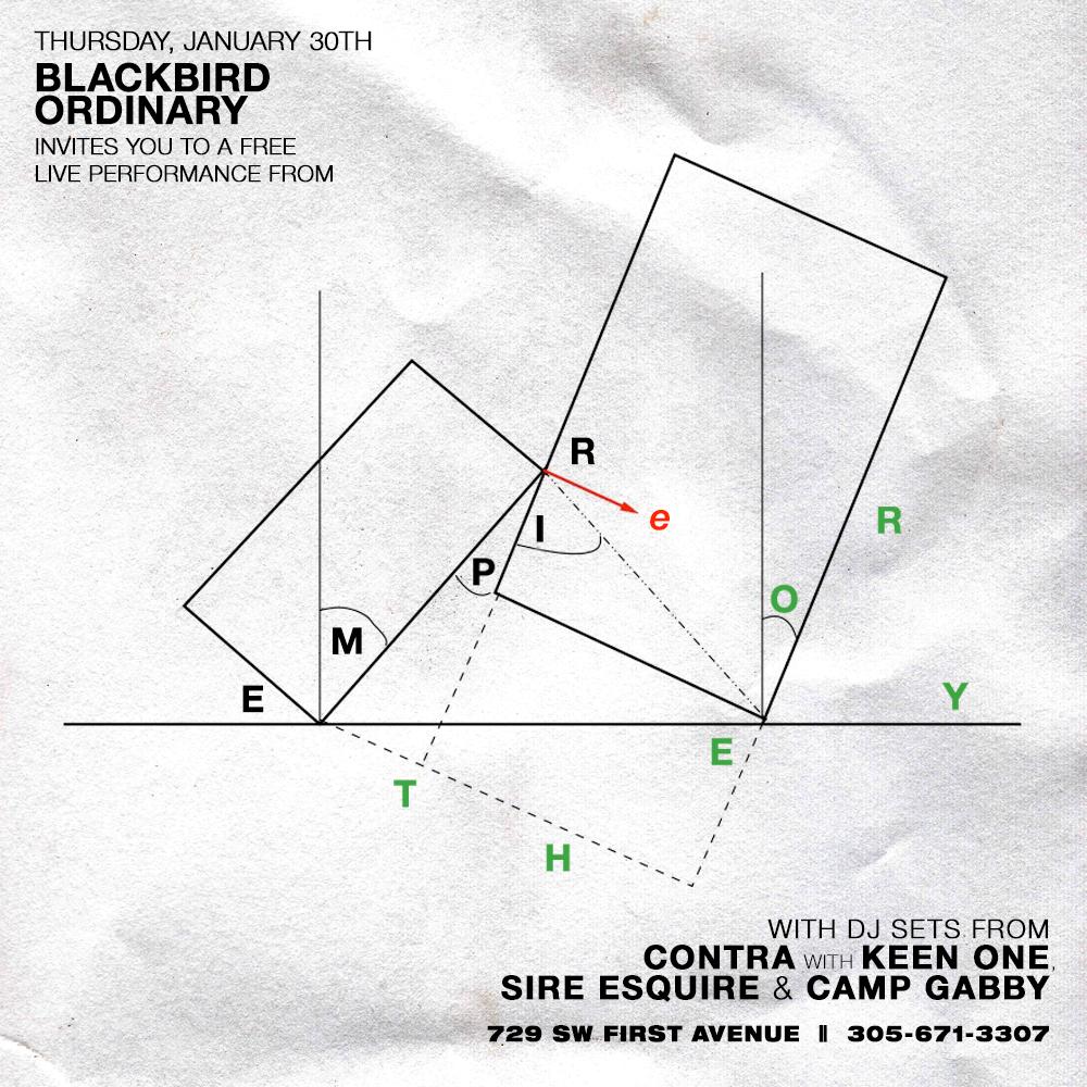 Empire Theory at Blackbird Ordinary Miami January 30th