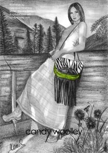 Illustration: Desislava Dimitrova - Model: Daniela Albrecht - Bag: Polynesia small convertible