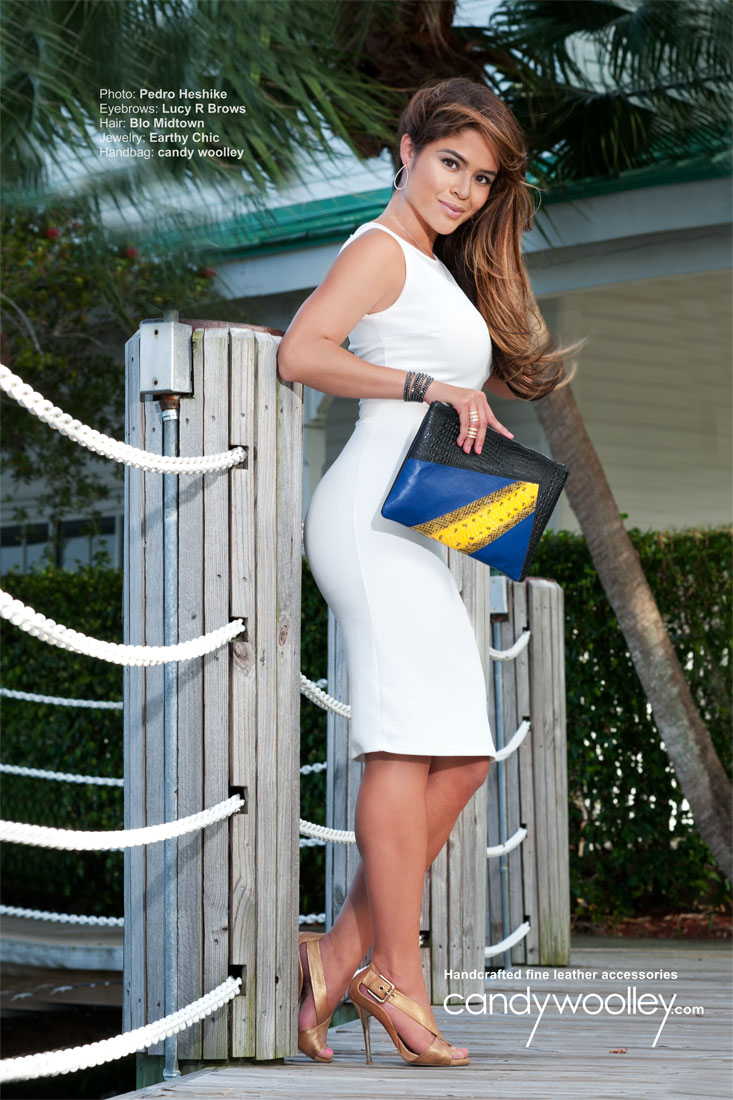 Michelle Fonticiella with  the 'Sensation' media pouch