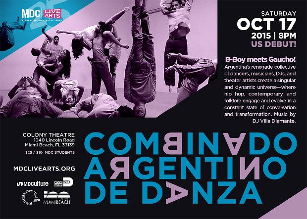 Combinado Argentino de Danza at the Colony Theatre October 17th